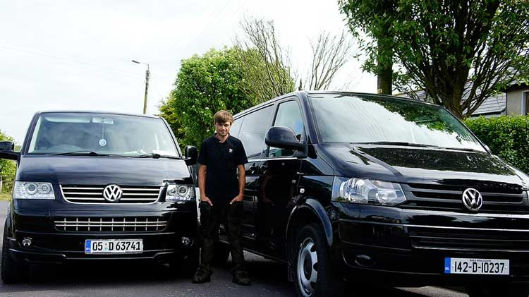 Cian and both VW vans