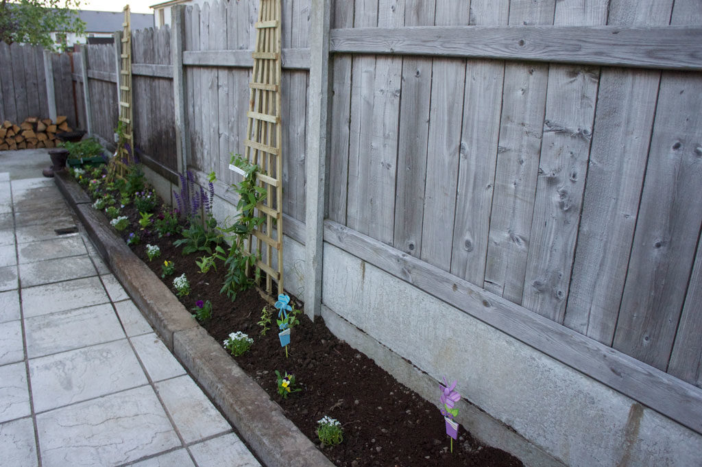 Finished weeded flower bed