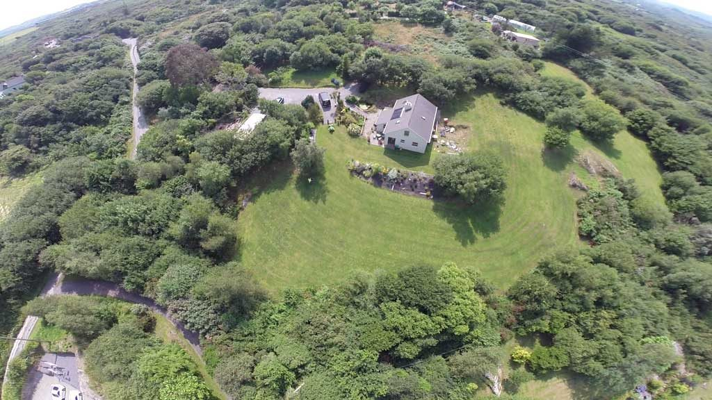 Finished maintained lawn aerial photo