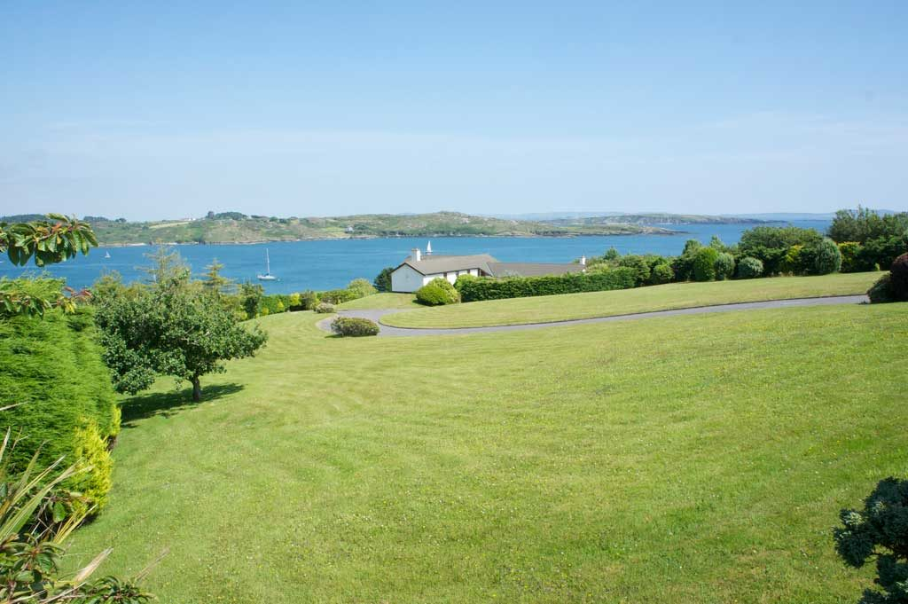 Maintained lawn with sea view Baltimore West Cork