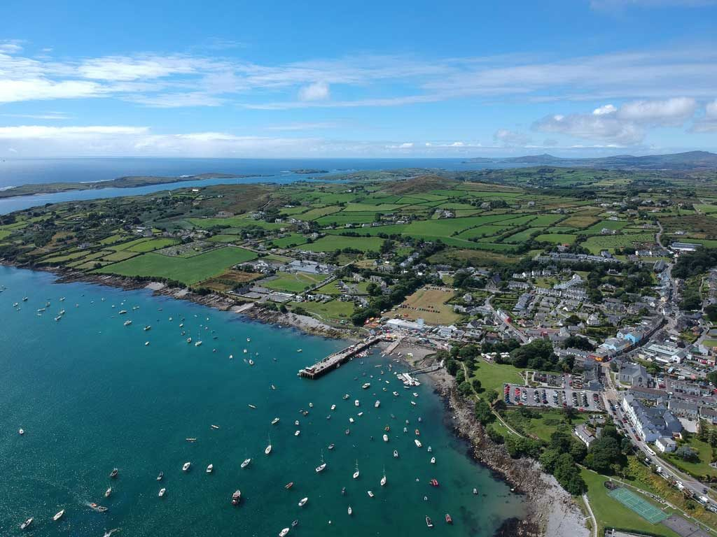 Aerial view o f Schull harbor 2018