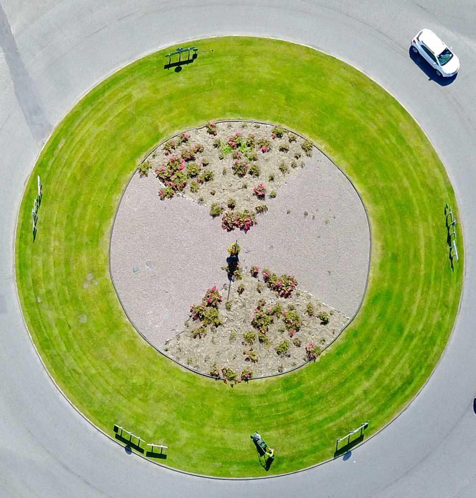 Skibbereen roundabout maintenance aerial photo